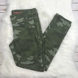 GAP Super Skinny Camo Ankle Zip Khakis A1113